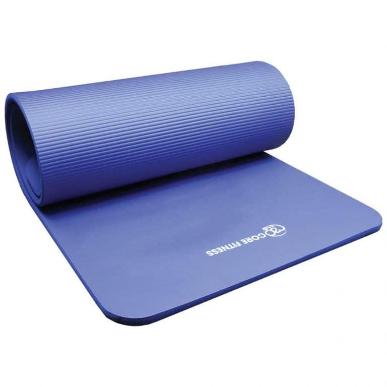 Pilates mat 10 mm dik blauw